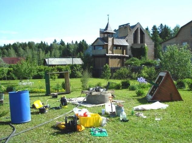 Чистка и ремонт колодца в Химкинском районе