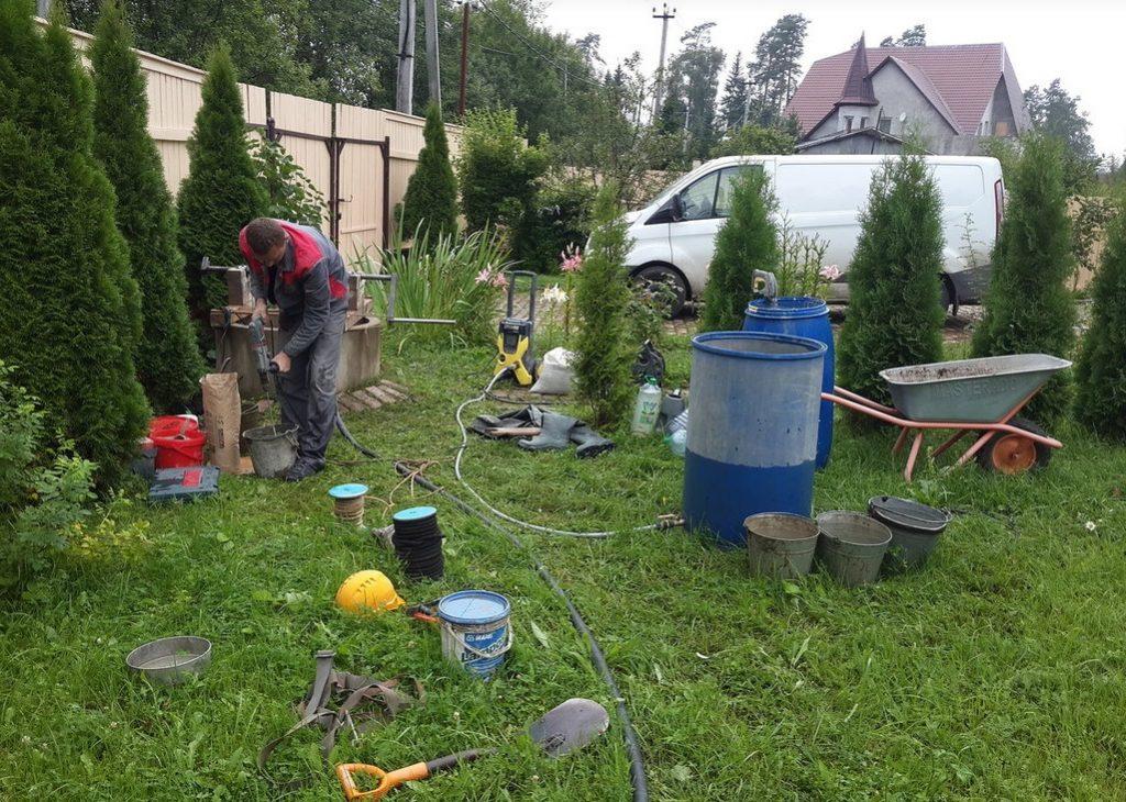 Чистка и ремонт колодца в Можайском районе