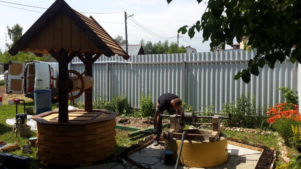 Чистка и ремонт колодца в Лобне