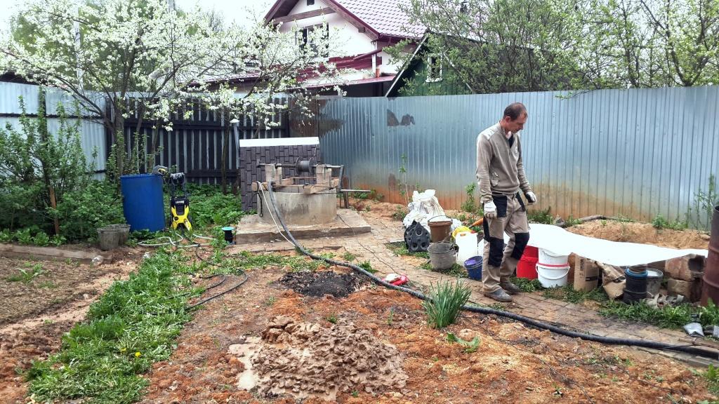 Чистка и ремонт колодца в Зеленограде