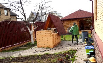 Чистка бетонного колодца в Одинцовском районе