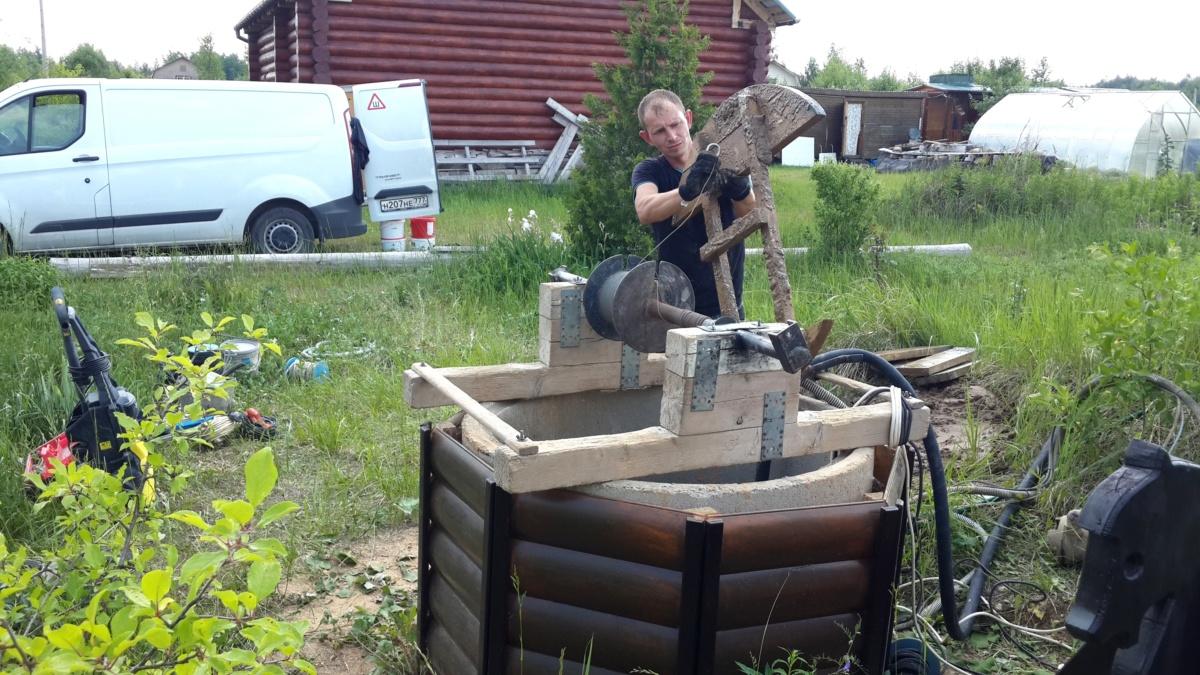 Чистка и ремонт колодца в Крекшино