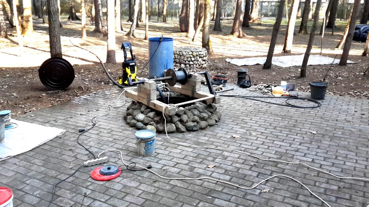 Как чистить колодец в Черноголовке