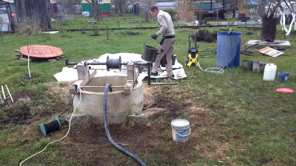 Чистка и ремонт колодца в Ступинском районе