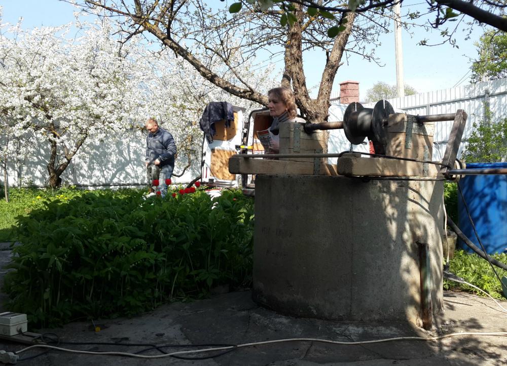 Чистка и ремонт колодца в Жаворонках