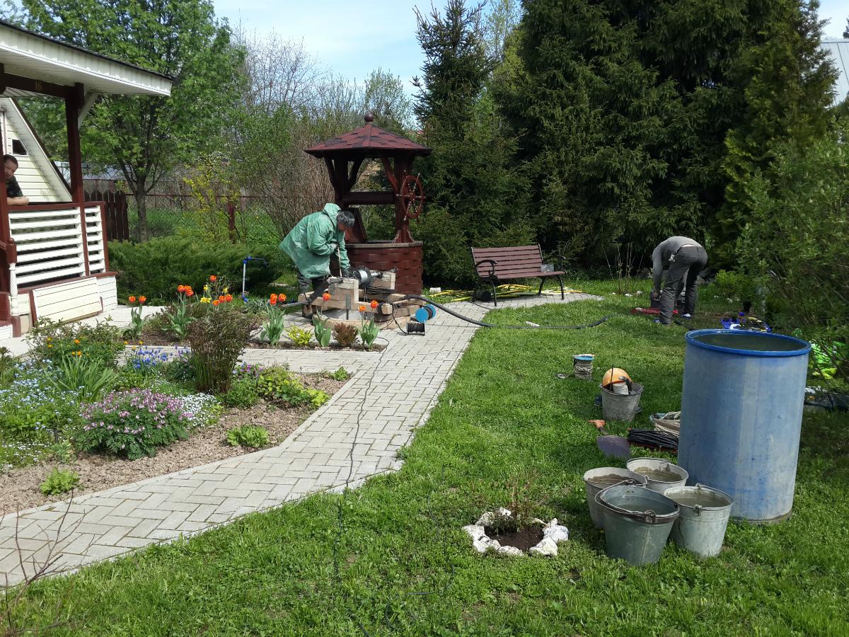 Чистка и ремонт колодца в Люберцах