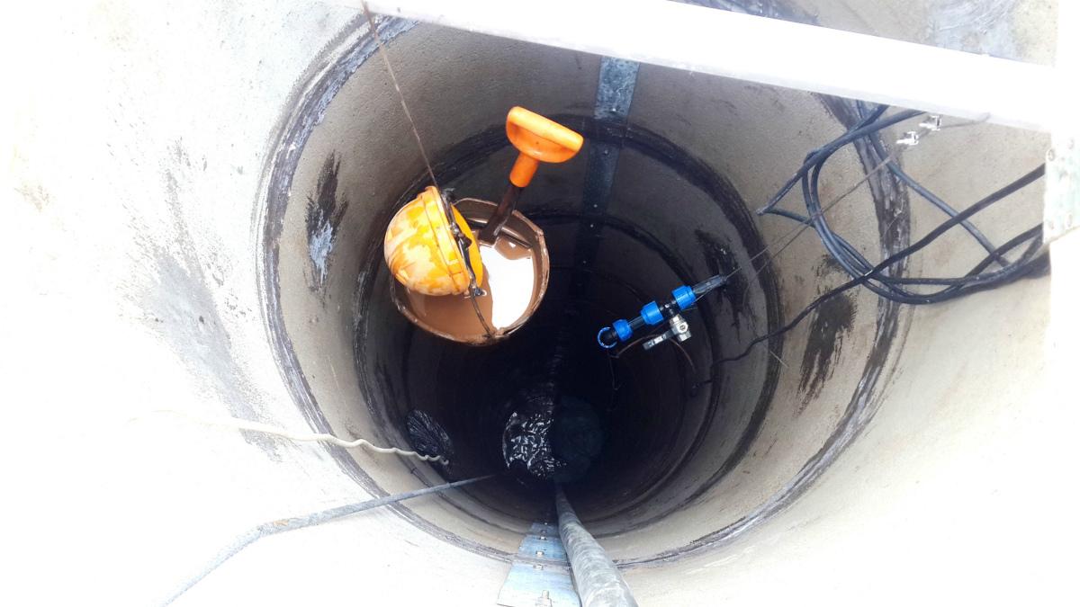 Чистка и ремонт колодца в Козино