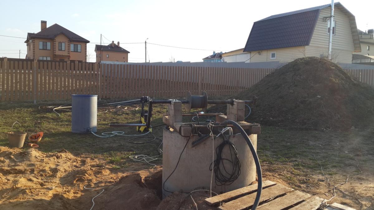 Как почистить колодец на даче в Атепцево