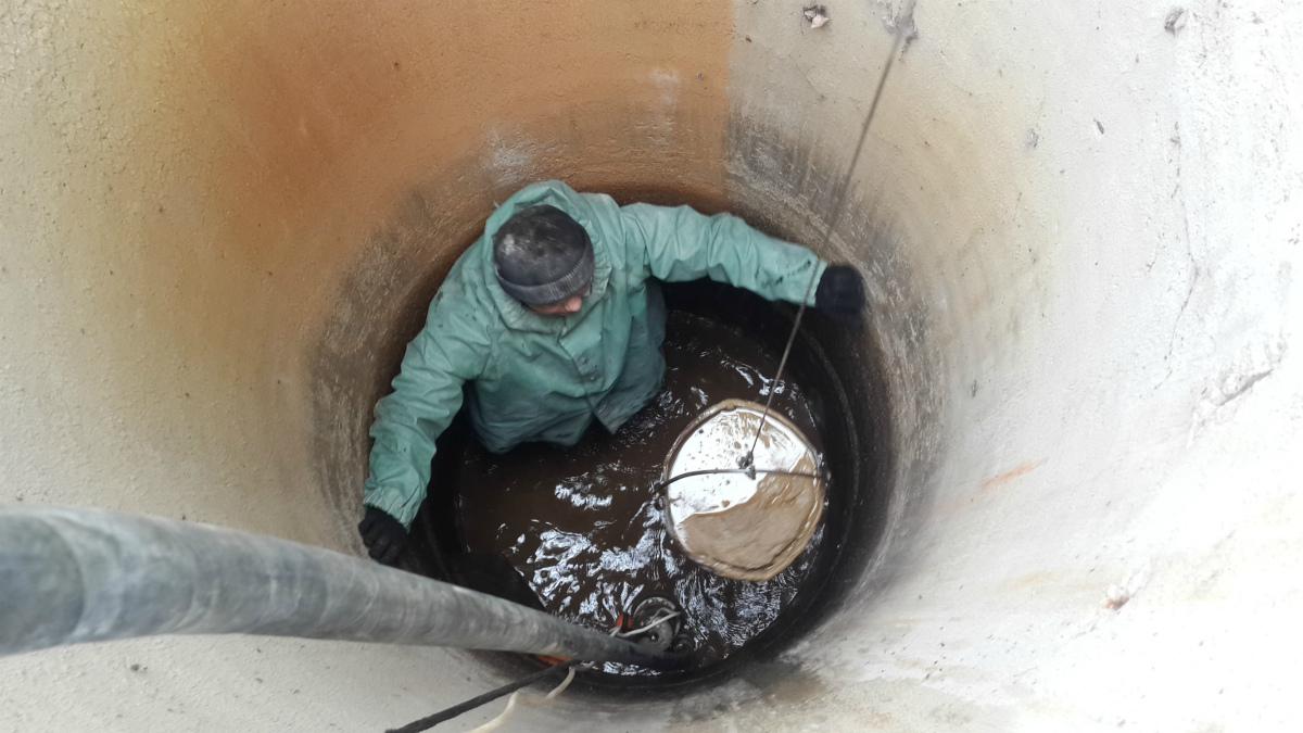Чистка и ремонт колодца в Молоково
