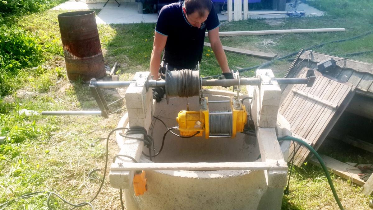 Чистка и ремонт колодца в Лыткарино
