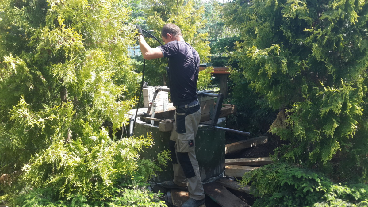 Чистка и ремонт колодца в Серпухове
