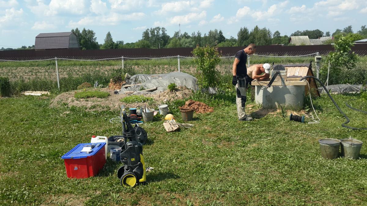 Сколько стоит почистить колодец на даче в Кокошкино