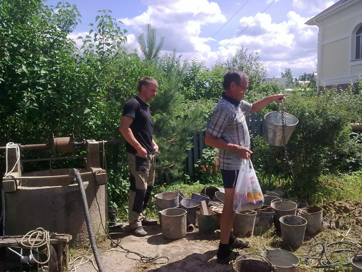 Чистка и ремонт колодца в Рогачево